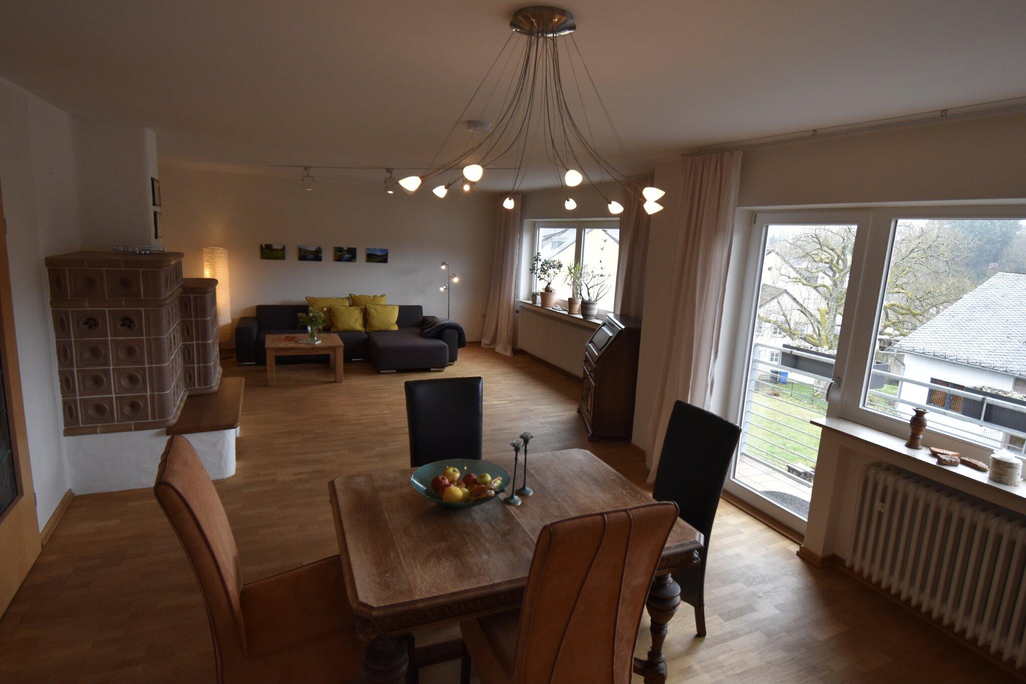 Das frisch renovierte Wohnzimmer
