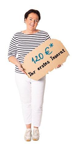 120 Euro zzgl. USt. für das erste Inserat