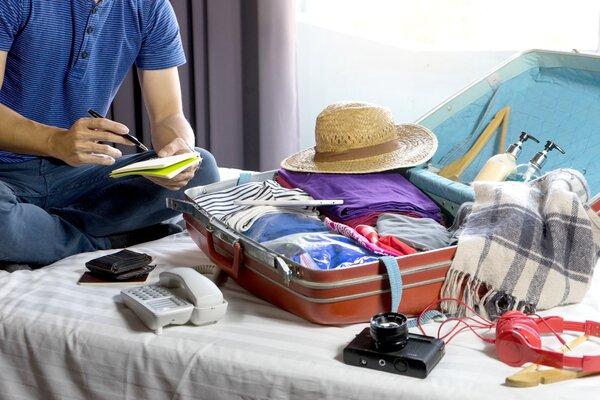 Koffer packen Reisecheckliste