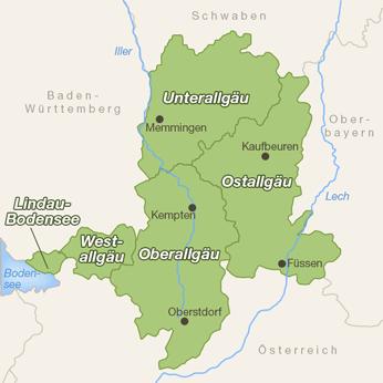 Allgäu-Karte