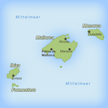 Balearen-Karte