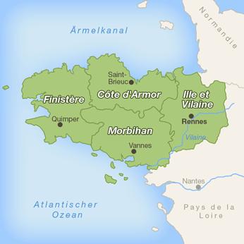 Bretagne-Karte
