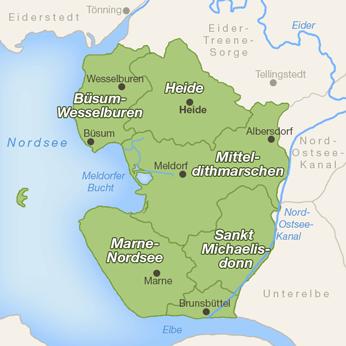 Dithmarschen-Karte
