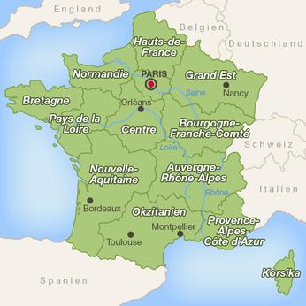 Frankreich-Karte