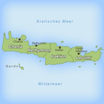 Kreta-Karte