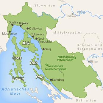 Kvarner Bucht-Karte