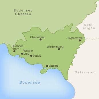 Lindau & Umgebung-Karte