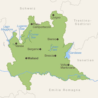 Lombardei-Karte