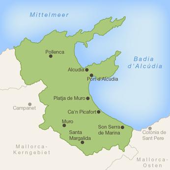 Mallorca-Norden-Karte
