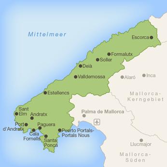 Mallorca-Westen-Karte