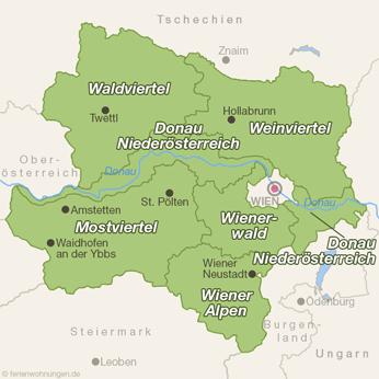 Niederösterreich-Karte
