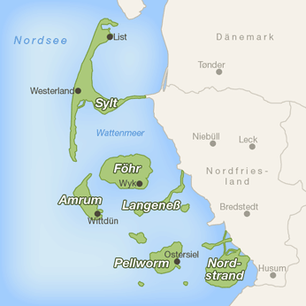 nordfriesische inseln karte Immobilien Service Amrum UG (haftungsbeschränkt)
