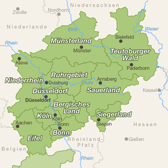 Nordrhein-Westfalen-Karte