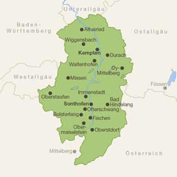 Oberallgäu-Karte