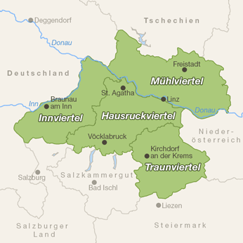 Oberösterreich-Karte