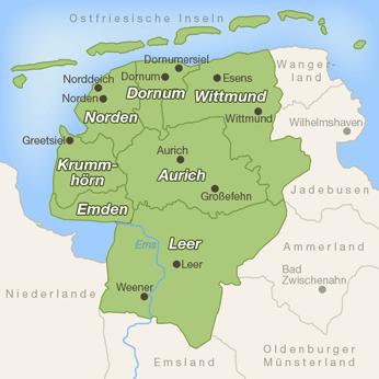 Ostfriesland-Karte