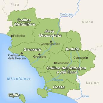 Grosseto (Region)-Karte