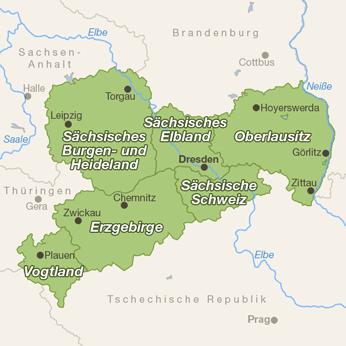 Sachsen-Karte
