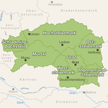 Steiermark-Karte