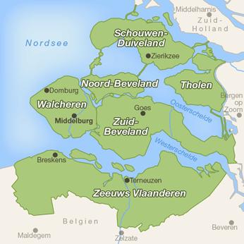 Zeeland-Karte