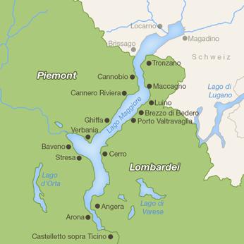 Lago Maggiore (Italien)-Karte
