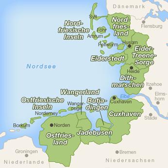Nordsee-Karte