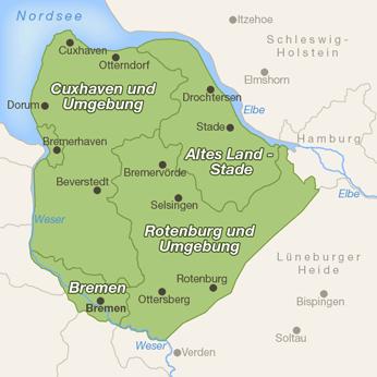 Weser-Elbe-Karte