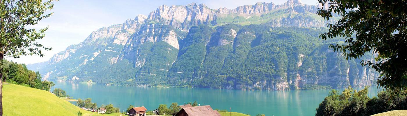 graubuenden berge see ferienhaus