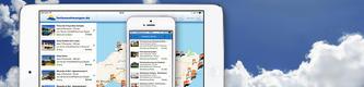 Ferienwohnungen App auf einem Smartphone
