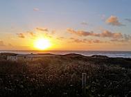 henne strand sonnenuntergang