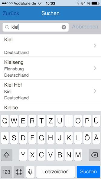 iPhone App Suche