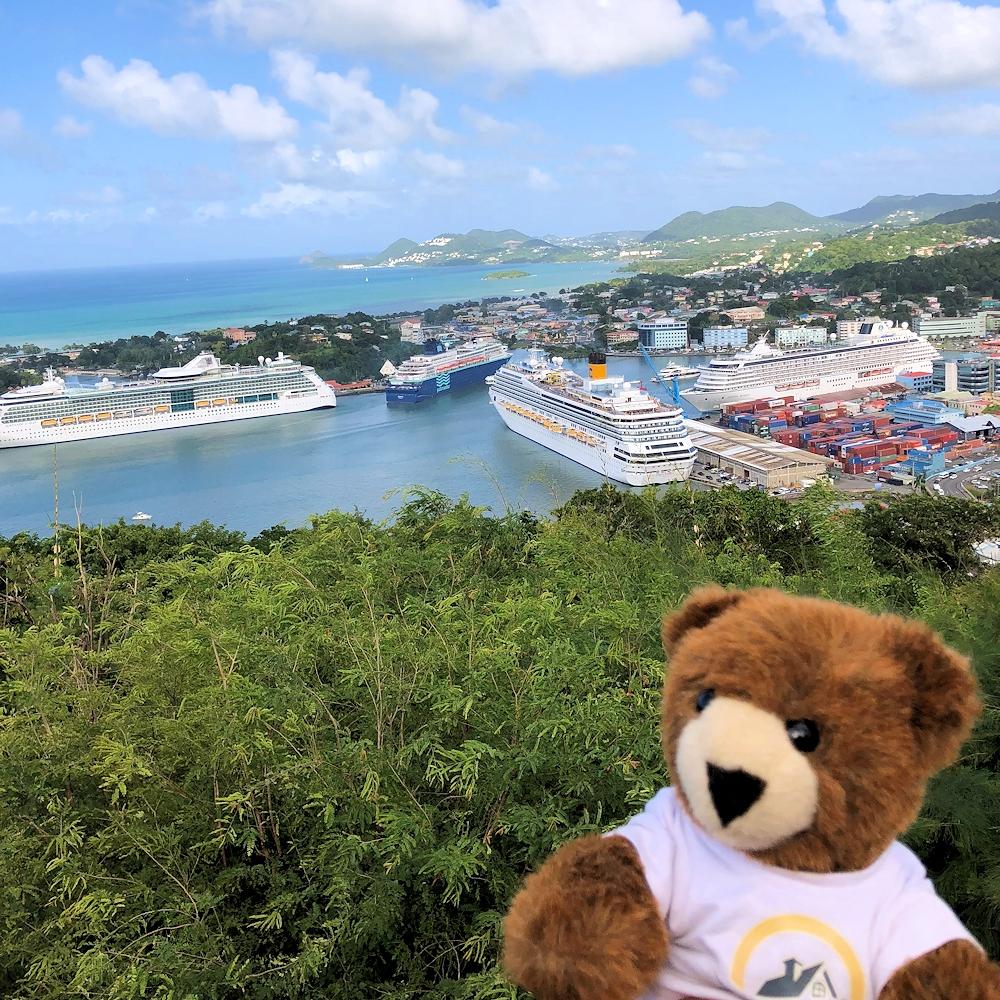 Mit dem Urlaubär in der Karibik